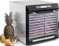 The Excalibur EXC10EL - 10 Tray 100% Stainless Steel Commercial Quality Dehydrator with Glass Doors and Stainless Steel Trays